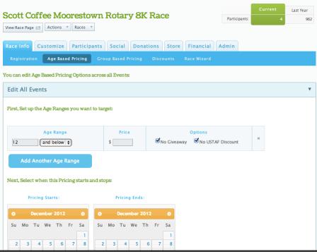Race Director User Interface