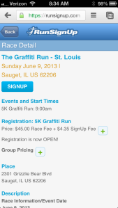Step 2 - RunSignUp Information