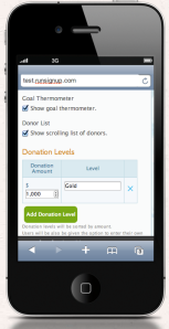 Mobile Donation Setup