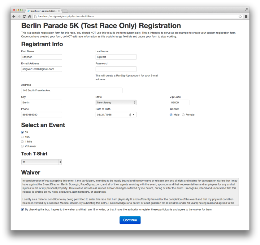 White Label Registration via API
