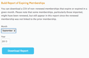Member Expiration Report Download