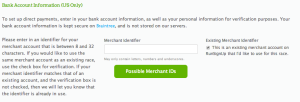 Sub-merchant account