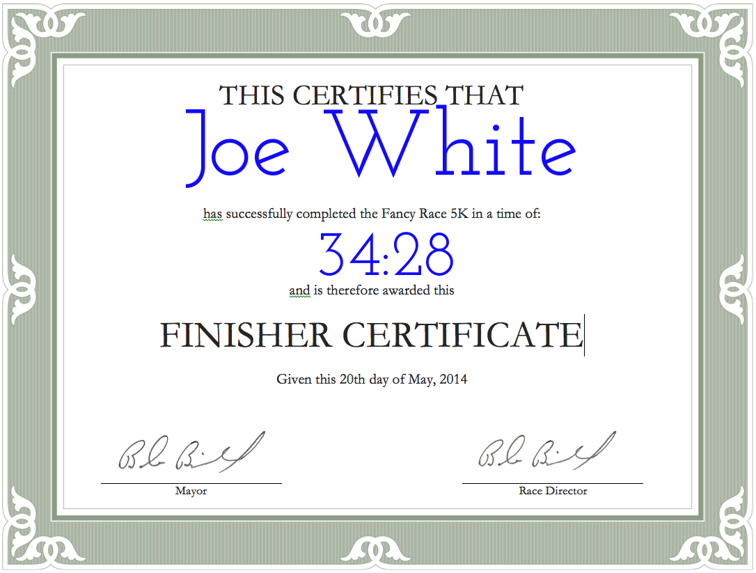 Finisher certificates runsignup finishers certificate yadclub Image collections