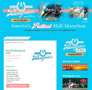 Bluegrass Half Marathon Widget