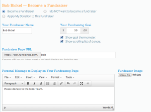 Individual Fundraiser