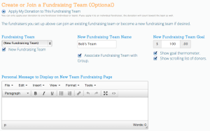 Create Fundraising Team