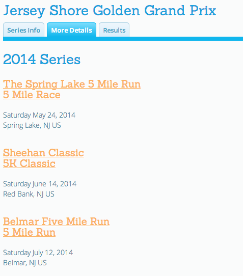 Races in a Series