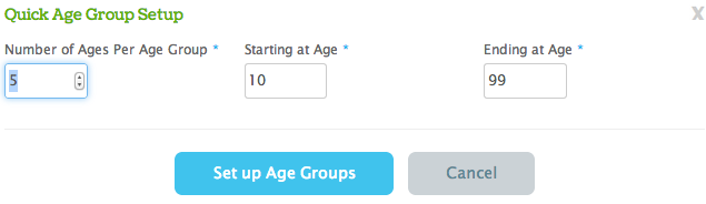 Series Age Group Quick Setup