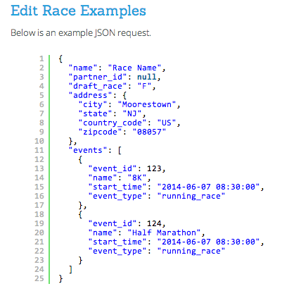 Edit Race API