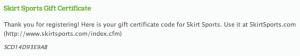 Rewards Code in Confirmation Page