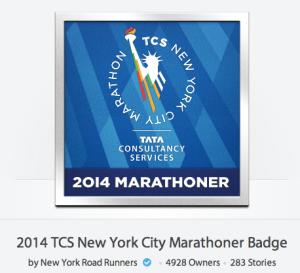 NYC Marathon Badge
