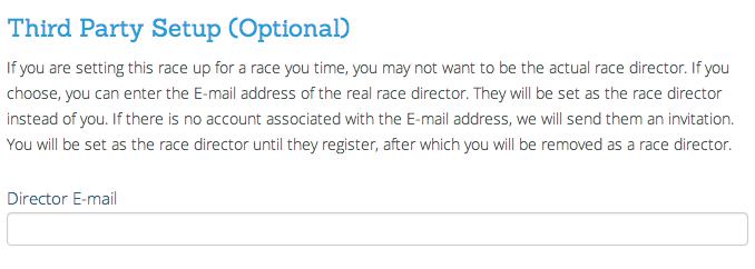 Invite Race Director