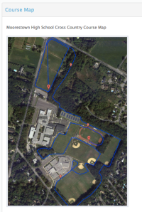 Course Map on Race Page