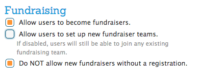 Required Fundraisers