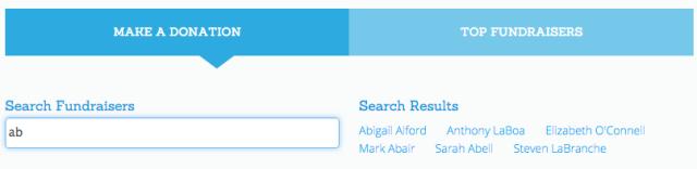 Fundraiser Search