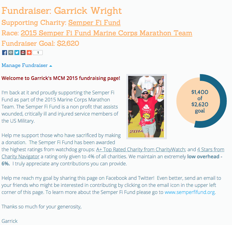 Fundraiser Page