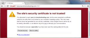SSL Warning