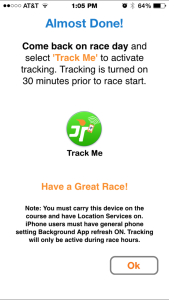 RaceJoy Enable Tracking