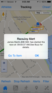 RaceJoy Start Notice
