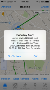 RaceJoy GPS Timing Split