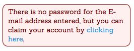 Claim Account