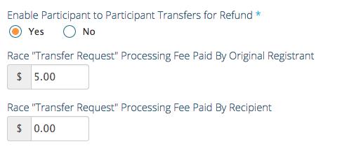 Bib Transfer Fee