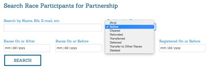 Partner Participant Search