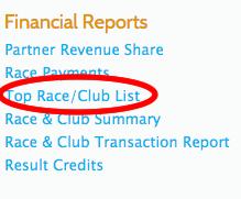 Top Races Report