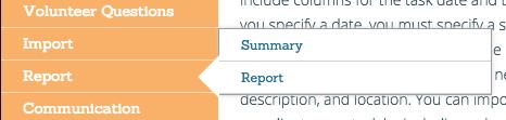 Volunteer Reports