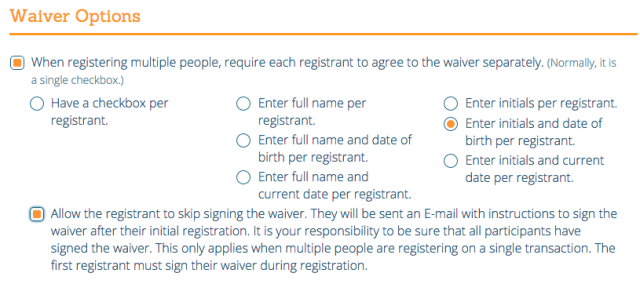 Waiver Options