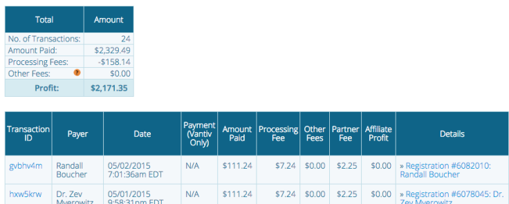 Transactions within a Payment