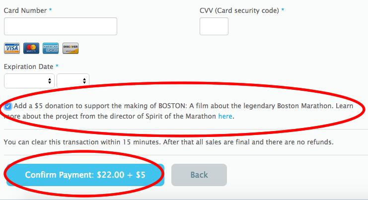 BOSTON Donation on Checkout