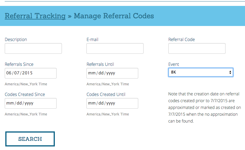 Referral Tracking Report