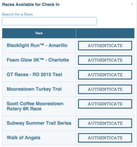 Race list