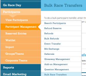 Bulk Participant Transfers