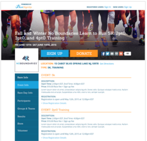 Race Website