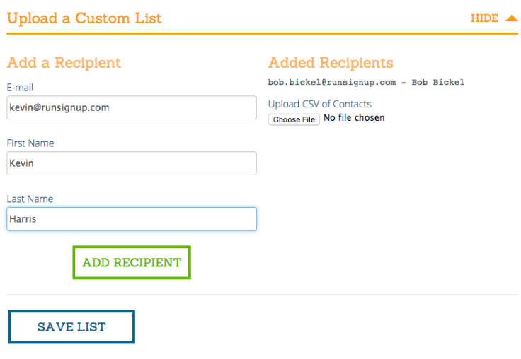 Partner EMail List