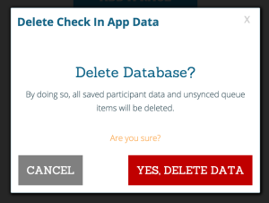 Check-In Delete Data