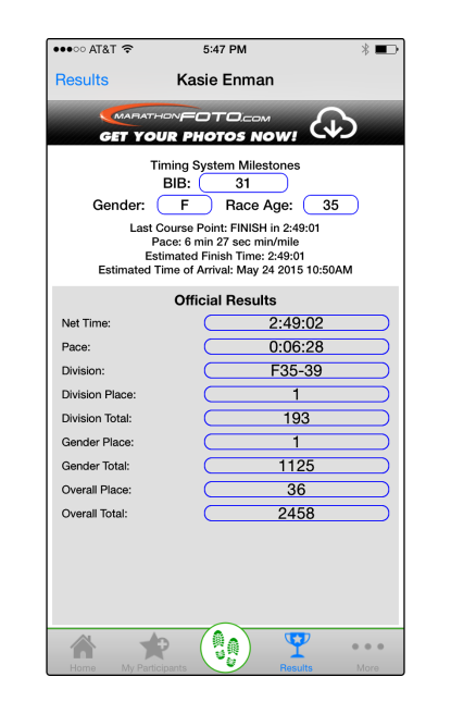 View Individual Results