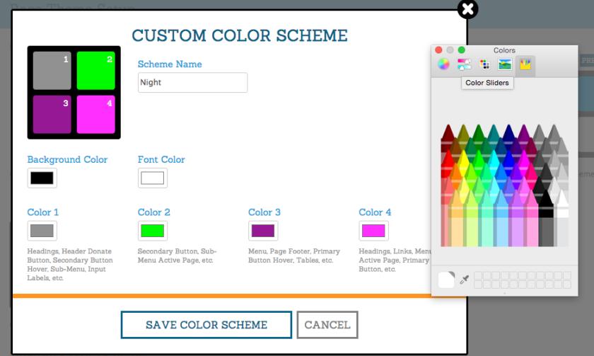 Race Website Color Editor