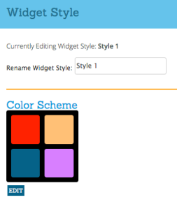 Widget Color Customization