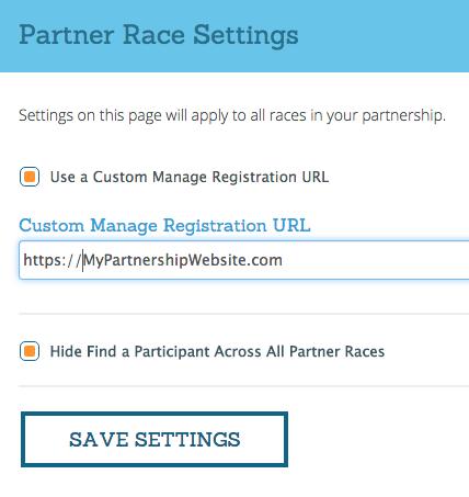 Partner Race Settings