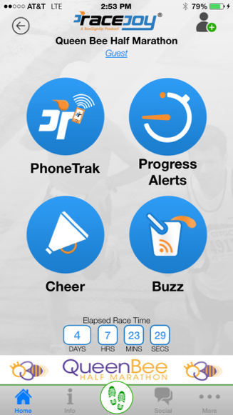 RaceJoy App: Showcasing Queen Bee Half Marathon