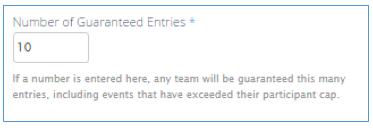 Team Guaranteed Entries