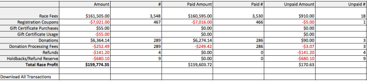 Excel Financial Summary