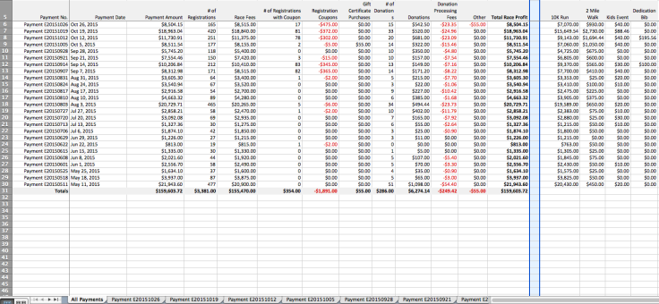 Summary Payment Excel