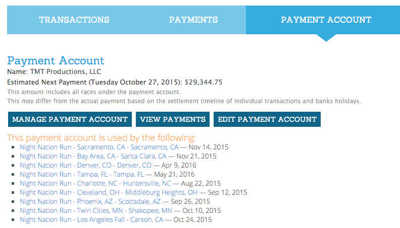 Payment Account