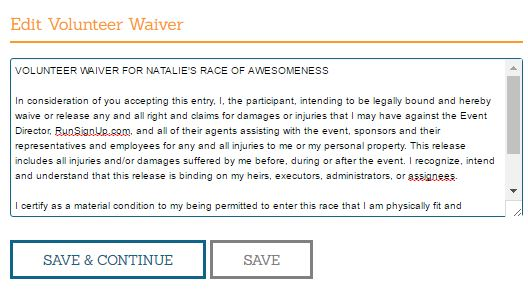 Volunteer Waiver
