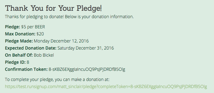 pledge donation