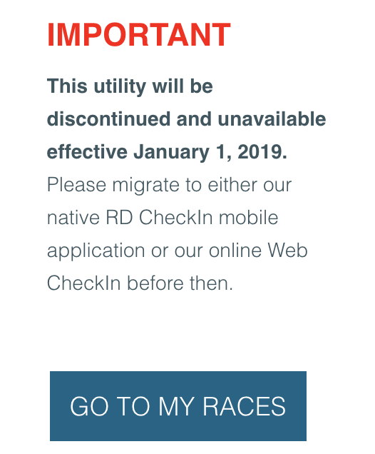 Discontinuing Chrome App Check-In – RunSignup